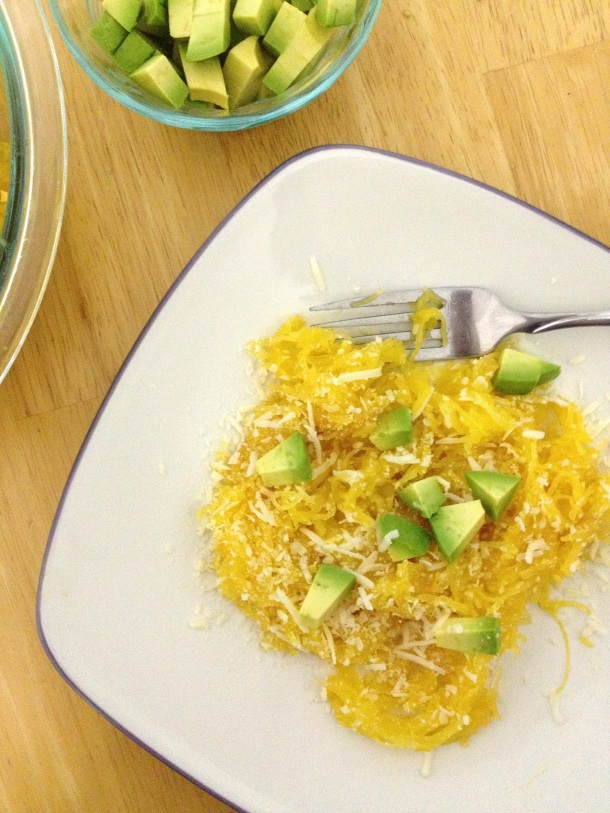 Spaghetti-Squash-Avocado-Asiago-Healthy-Weeknight-Dinner